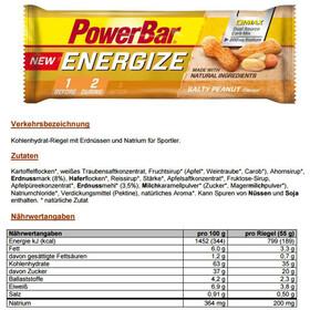PowerBar New Energize Urheiluravinto Salty Peanut 25 x 55g , keltainen/ruskea